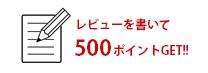 レビューを書いて500ポイント!